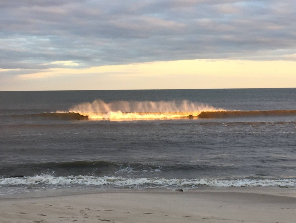 THere's no place like home.  Surfing at long island, new york